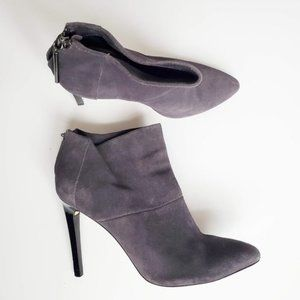 French Connection Grey Suede Pointed Heeled Bootie